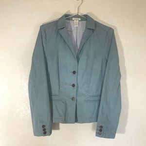Sundance Three Button Lined Cotton Blazer Size 4